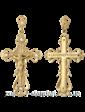 Агат Золотой подвес Крестик 1,4,0187