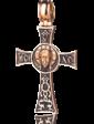 Оникс Золотой православный крестик 024657