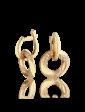 Агат Золотые серьги с фианитами 025256