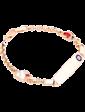 Оникс Золотой детский браслет с эмалью 025194