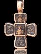 Оникс Золотой православный крестик 024658