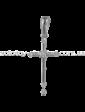 Edendiam Золотой крестик с бриллиантом в белом золоте P0373