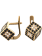 Стиль Золотые серьги Кубики 243,5