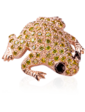 Edendiam Золотая брошь с бриллиантами Лягушка Br0683