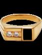 Агат Золотая мужская печатка с фианитами и эмалью 026481