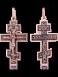 Оникс Православный крест с покрытием чернение 024630