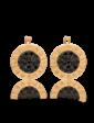 Агат Золотые серьги в стиле BVLGARI 025255