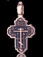 Оникс Золотой православный крест с чернением 024632