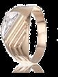 Танго Мужская золотая печатка с одним фианитом 028710