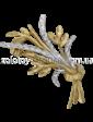 Золота лелека Золотоя брошь 09099