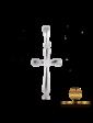 Edendiam Крестик декоративный в белом золоте с бриллиантом P0450