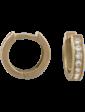 Стиль Золотые серьги с цирконием 266