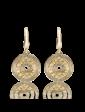 Агат Золотые серьги в стиле BVLGARI 025253