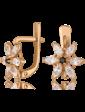 Стиль Золотые детские серьги с цирконием 5078