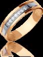 Edendiam Обручальное кольцо из красного золота с бриллиантами 023195