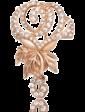 Танго Золотая брошь Роза с фианитами 028512