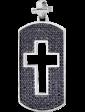 Оникс Золотой кулон крест с черными фианитами 025233