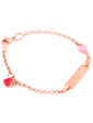 Оникс Золотой детский браслет с эмалью 025192
