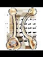 Агат Золотой пирсинг с цирконием 1,4,0600