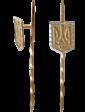 Сапфир Золотой значок Герб Украины 000001