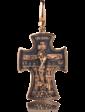 Оникс Золотой православный крестик 024659