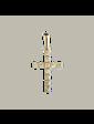 Edendiam Золотой подвес с бриллиантом крестик P0366