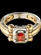Агат Золотая мужская печатка с фианитами 026482