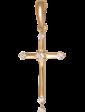 Edendiam Золотой кулон крестик из красного золота с бриллиантами 023208