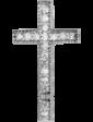 Edendiam Золотой подвес с бриллиантом крестик P0771