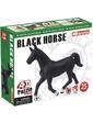 4D Master Объемный пазл Черная лошадь, 25 эл., (26481)