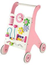 Viga Toys Ходунки-каталка, розовые, (50178)