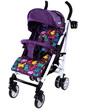 Carrello Прогулочная коляска Allegro, фиолетовая с рисунком, (CRL-10101 Kitty Purple)