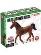 4D Master Объемный пазл Темно-коричневая лошадь, 25 эл., (26482)