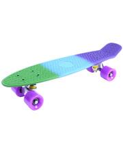 GO Travel Скейтборд Fuzion разноцветный с фиолетовыми колесами, 56 см, (LS-P2206F)