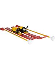Технок Лыжи с палками детские, красные, (3350)