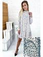 Платье трапеция в горох с небольшим браком YARE - белый цвет, XXL (есть размеры)