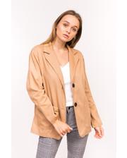 Классический женский пиджак M collection - коричневый цвет, L (есть размеры)