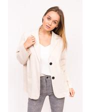 Классический женский пиджак M collection - бежевый цвет, M (есть размеры)