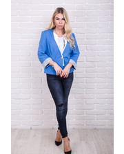 Пиджак с рукавом 3/4 - голубой цвет, L (есть размеры)