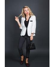Пиджак классического кроя - белый цвет, XL (есть размеры)
