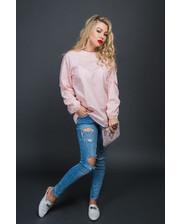 Романтичная блуза с жемчужинами - пудра цвет, S (есть размеры)