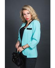 Пиджак классического кроя - бирюзовый цвет, XL (есть размеры)