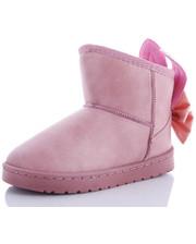 Угги для девочек нежно-розового цвета с красивым бантом с ушками