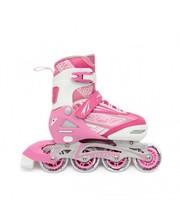 Maraton Роликовые коньки раздвижные Soft 31-34 Розовые