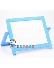 Игруша Мольберт и магнитная доска для рисования 40х30 Двухсторонний Голубой
