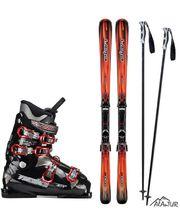 Комплект горнолыжный акционный мужской (лыжи+палки+ботинки)