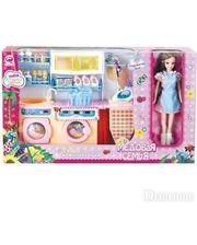 """Qun Feng Toys Прачечная """"Медовая семья"""" с куклой 29 см"""