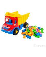 WADER Multi truck грузовик с конструктором (красно-синяя кабина), (39221-2)