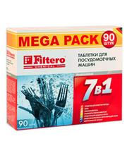 FILTERO Таблетки для посудомоечных машин 7 в 1, 90 штук.