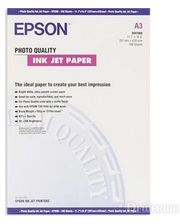Epson A3 Photo Quality Ink Jet Paper, 100л. (C13S041068)